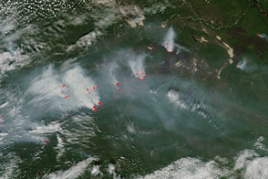 Fires in Eastern Russia - selected image