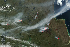 Fires in Manitoba