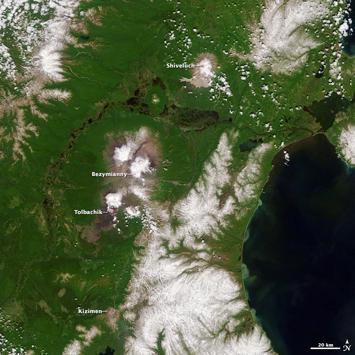 Erupting Kamchatka Volcanoes - related image preview