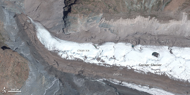 Distinct Faces of Zmutt, Findelen, and Gorner Glaciers