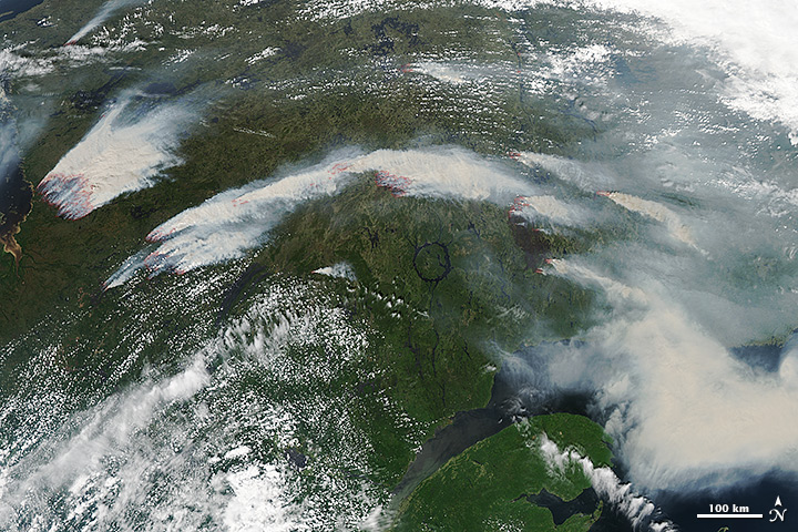 Smoke and Wildfires in Quebec