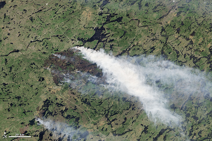 Fires in Quebec