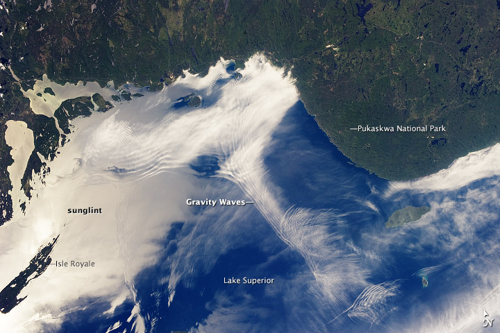 Gravity Waves and Sunglint, Lake Superior - related image preview
