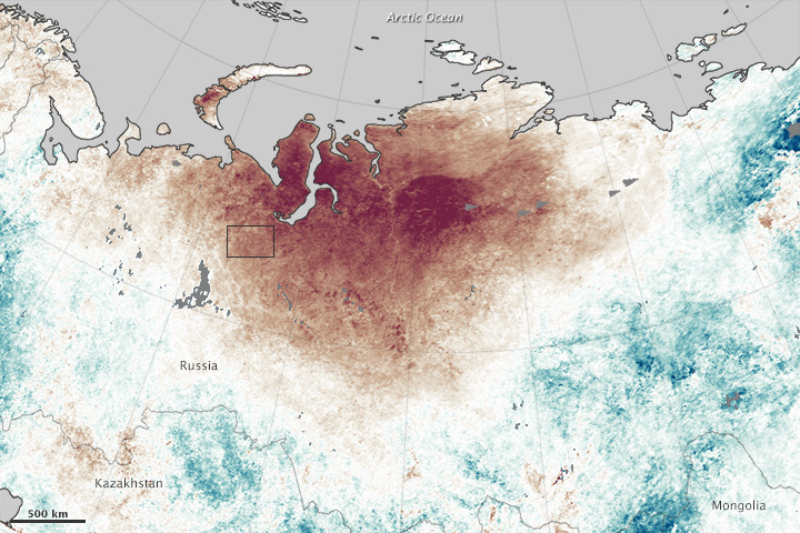 Heat Intensifies Siberian Wildfires