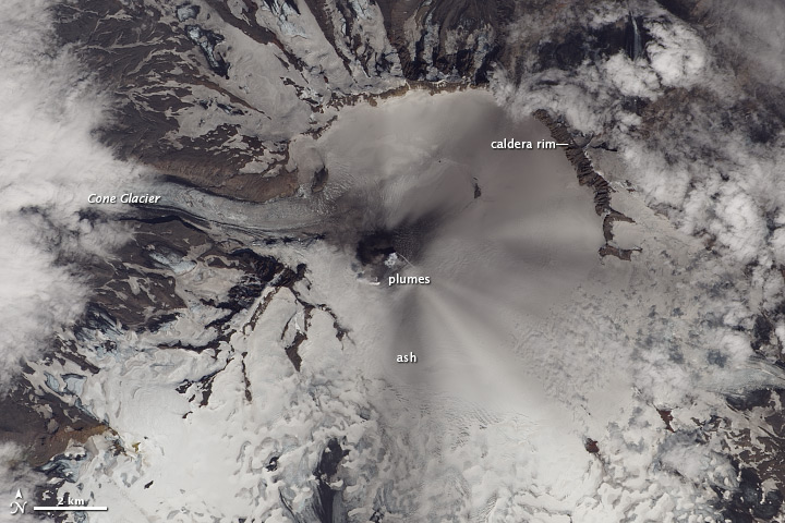 Ash and Snow, Veniamonof Volcano
