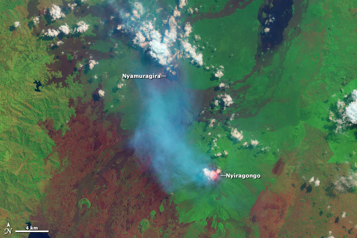 Nyamuragira and Nyiragongo Volcanoes