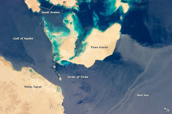 Strait of Tiran, Red Sea and Gulf of Aqaba