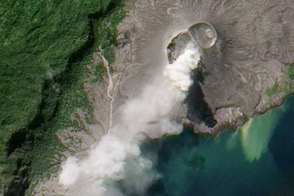 Ash Plume from Rabaul Volcano - selected child image