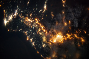 Southwestern Saudi Arabia at Night