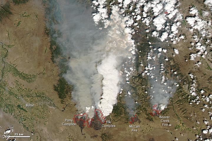 Lightning Fires in Central Idaho
