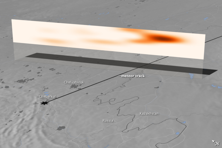 Tracking the Chelyabinsk Meteor Plume
