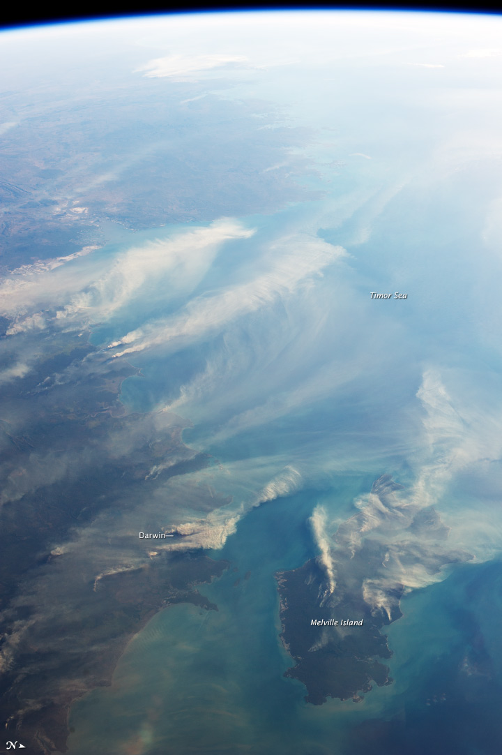 Fires around Darwin, Australia