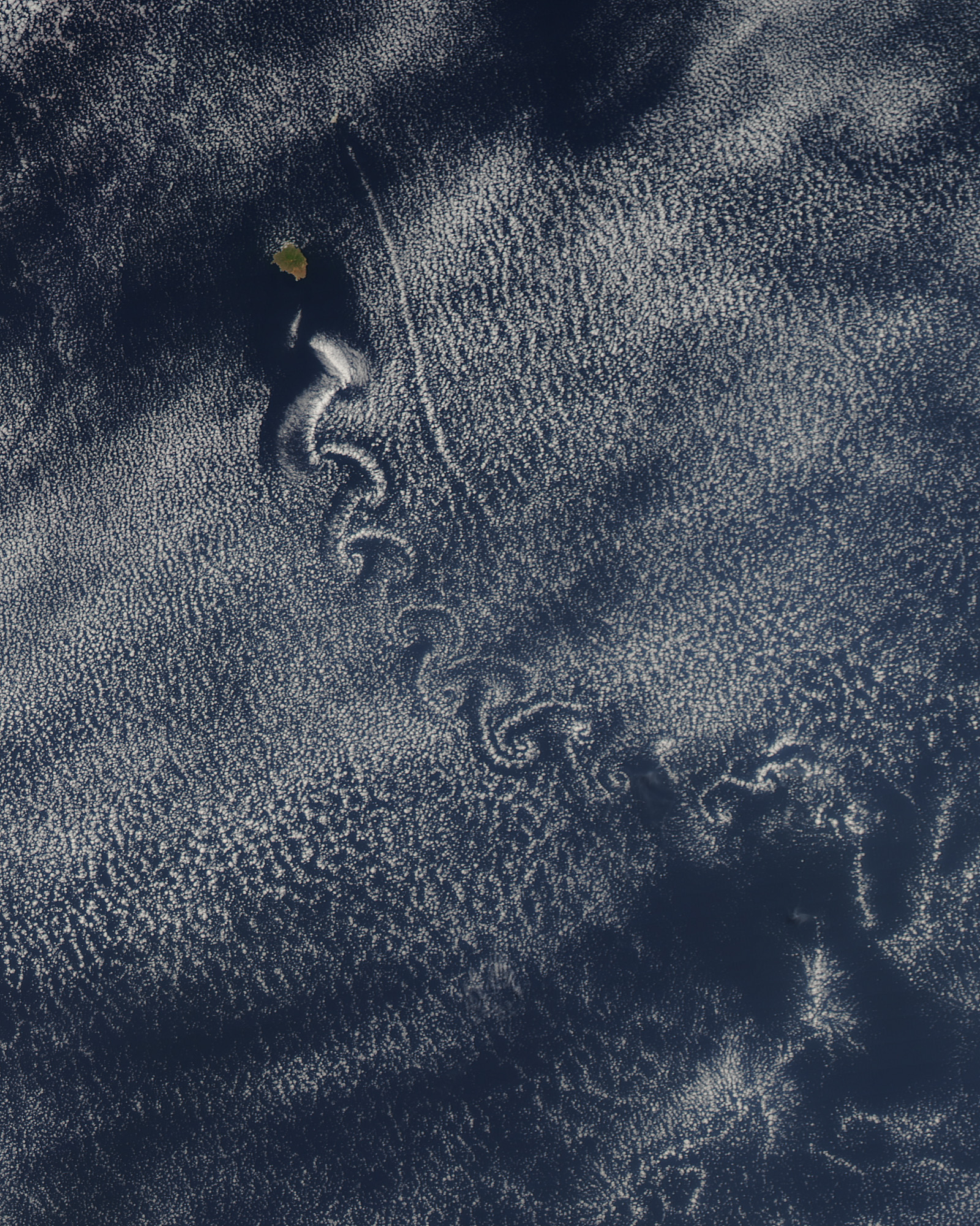 A Swirl of Clouds over the Pacific - related image preview