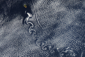 A Swirl of Clouds over the Pacific - selected image