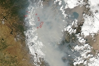 Smoke from the Rim Fire