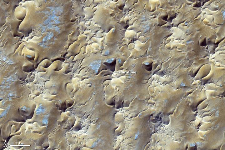 Star Dunes in Algeria