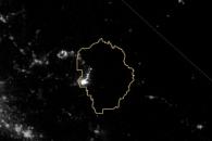 Progression of the Rim Fire at Night