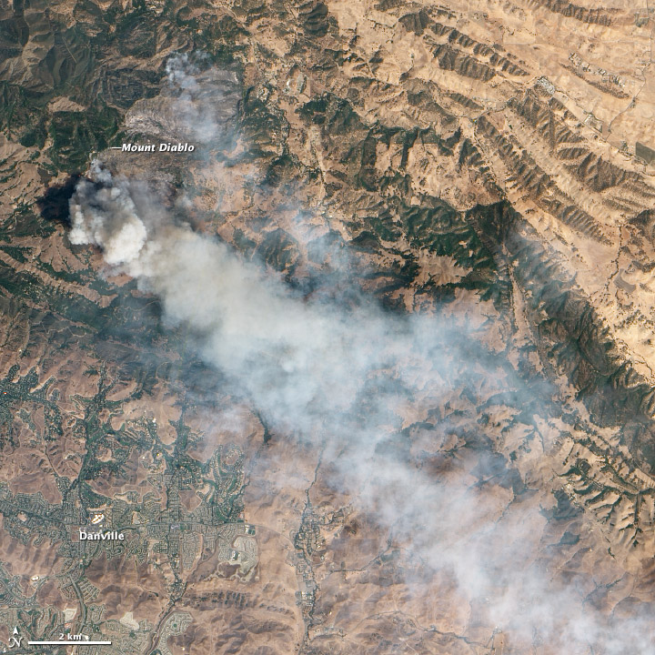 NASA Visible Earth: ALI's View of California's Morgan Fire