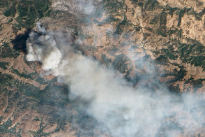 ALI's View of California's Morgan Fire - selected image