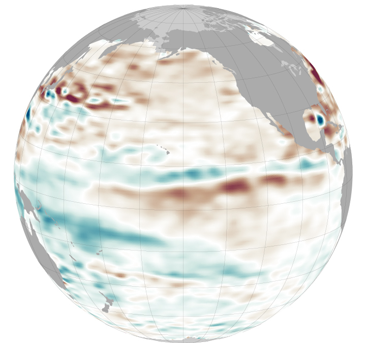 Pacific Waters Remain Stubbornly Stable