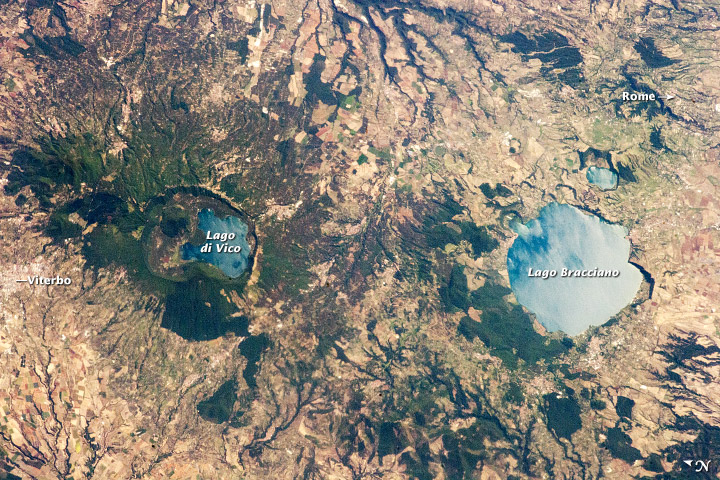 Caldera Lakes to the North of Rome - related image preview