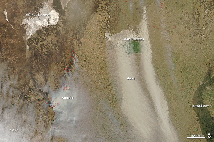 Fire, Dust Sweeps Across Northern Argentina
