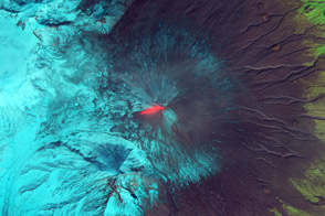 Lava and Snow on Klyuchevskaya Volcano - selected image