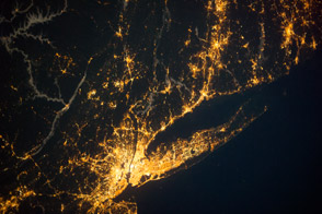 Long Island Sound Region at Night - selected image