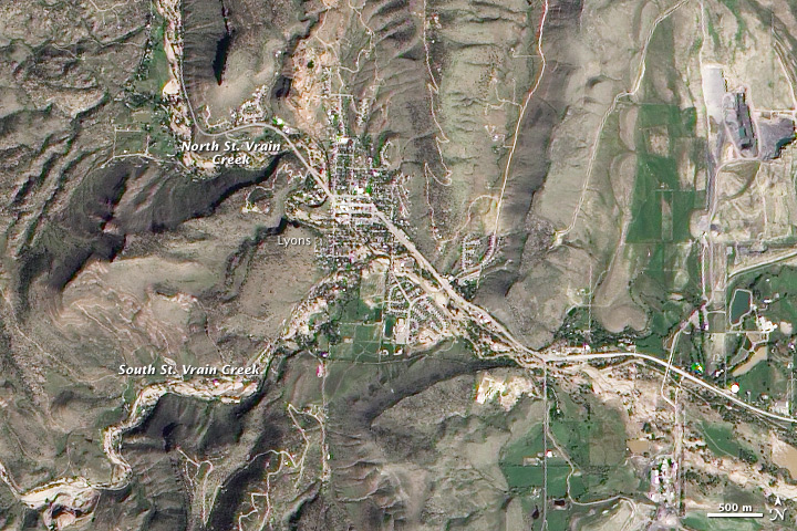 Floods in Lyons, Colorado - related image preview