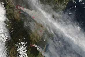 Fires Around Sydney, Australia
