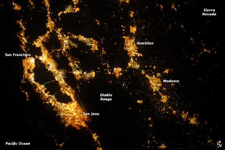 San Francisco Region at Night - related image preview