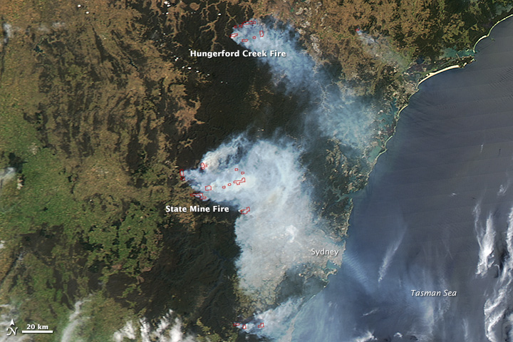 Fires in New South Wales, Australia
