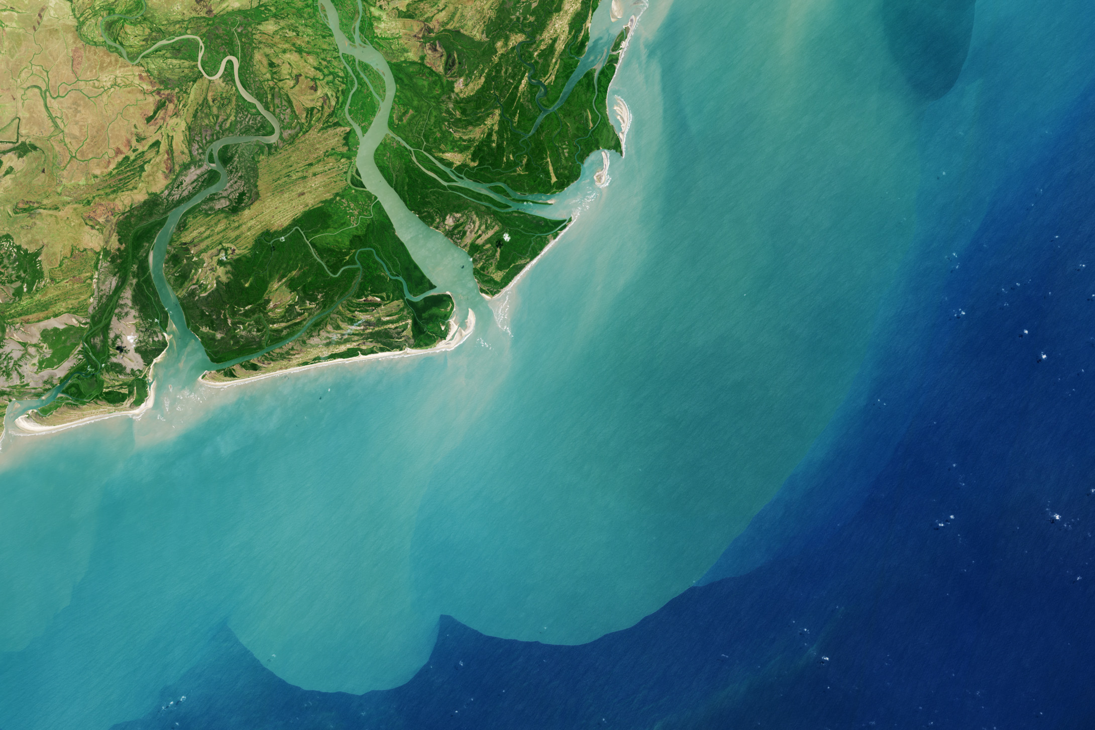 Zambezi river delta image of the day for Ocean bed meaning
