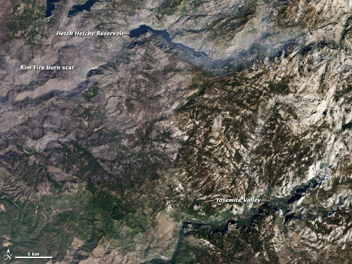 Yosemite Valley and the Rim Fire Burn Scar - related image preview