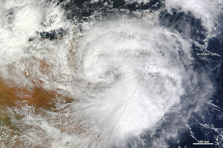 Rare Tropical Cyclone Strikes Somalia