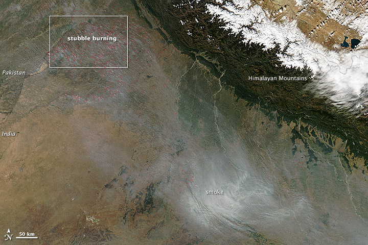 Stubble Burning in Northern India