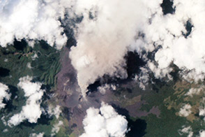 Ash Plume from Langila - selected image