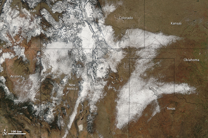 Winter Storm over the United States