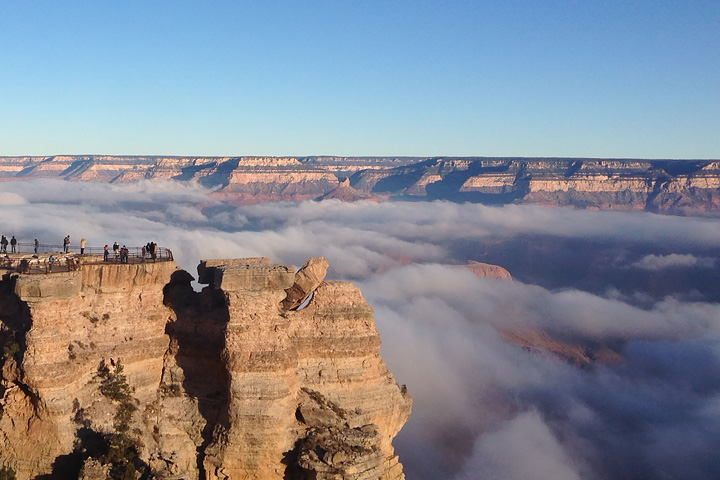 Fog Fills the Grand Canyon