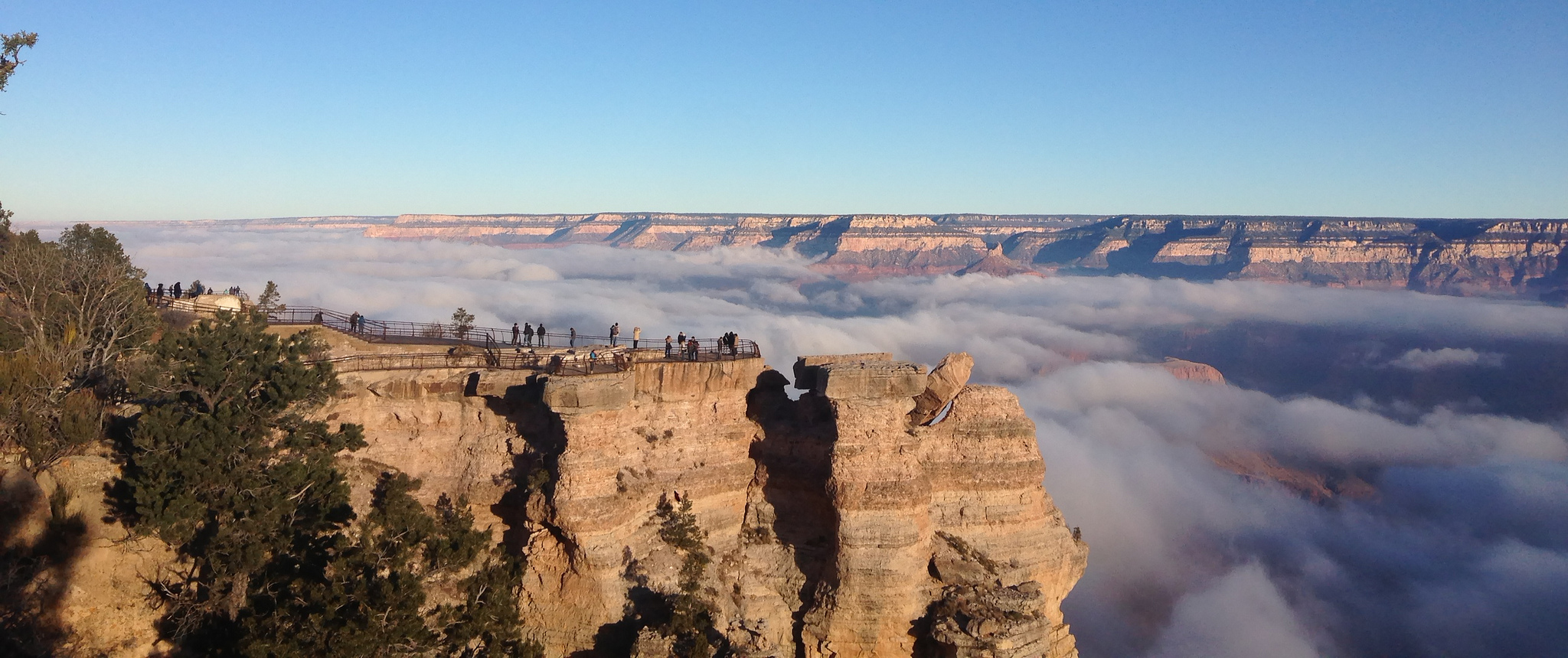 fog fills the grand canyon image of the day. Black Bedroom Furniture Sets. Home Design Ideas