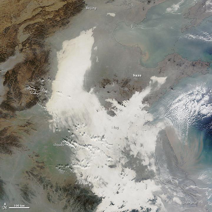Smog Shrouds Eastern China