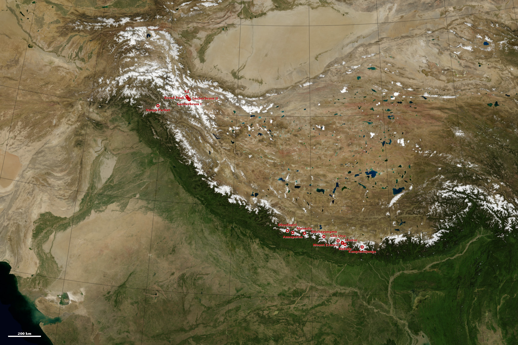 8,000-meter Peaks of the Himalaya and Karakoram - related image preview