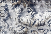 A Unique View of the Karakoram Range