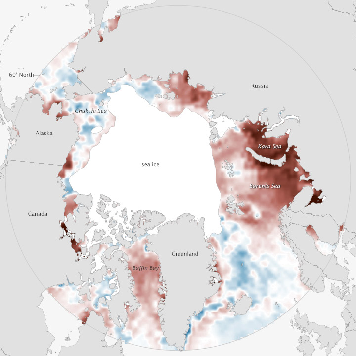 Arctic Waters Keep Warming in 2013