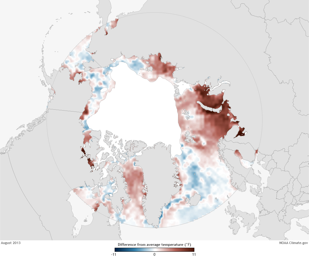 Arctic Waters Keep Warming in 2013 - related image preview