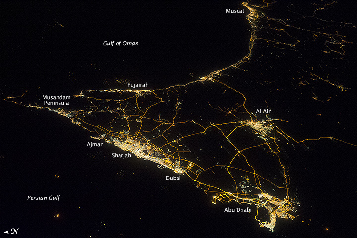 United Arab Emirates at Night