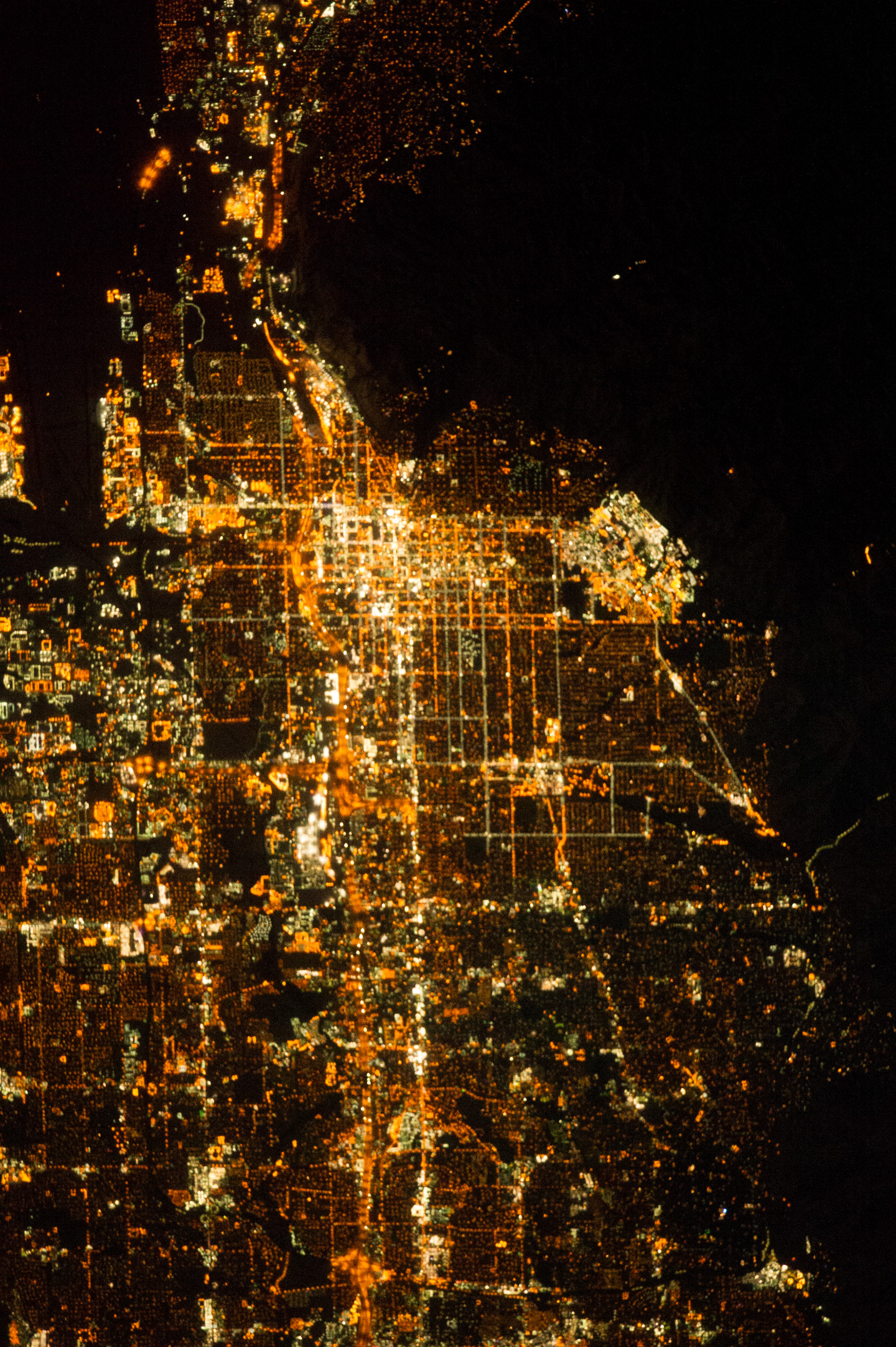 Salt Lake City At Night : Image Of The Day