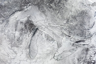 Steam Fog over the Great Lakes