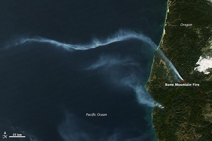 Bone Mountain Wildfire Smoke Plume