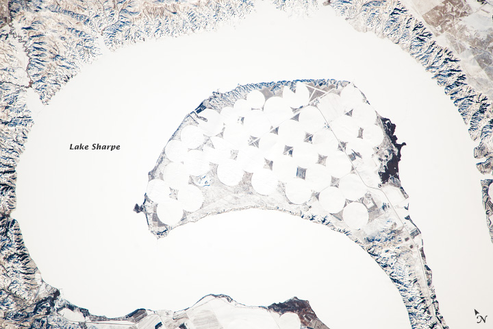 Frozen Lake Sharpe, South Dakota - related image preview